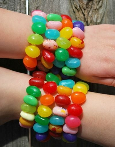 How fun! Put that Easter candy to good use with these Easter Jelly Bean Bracelets