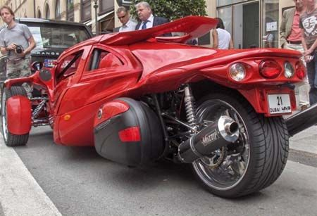 T-Rex Motorcycle Car | Aero 3S T-Rex Three Wheel Motorcycle Aero 3S T-Rex Complete Stage 3 ...