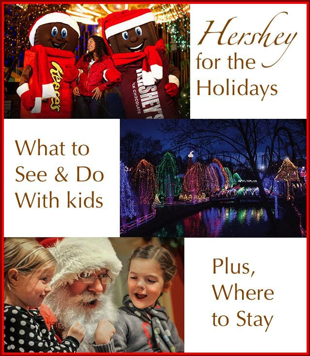 Hershey PA is a sweet destination at any time of year, but the town sparkles with hundreds of lights and special events during the holiday season. Here are the things to do and see during a weekend getaway. #Hershey #holidayseason #lights #weekend