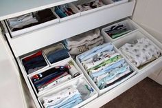 Chest organisers to help you organise clothes #nursery #organisation #mybabygiraffe