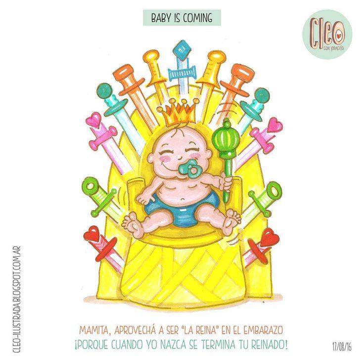 Aprovechando mi reinado! (Pintado a mano con rotuladores y lápices)  #babyiscoming #baby #bebeencamino #bebe #embarazo #pregnant #queen #reina #king #rey #gameofthrones