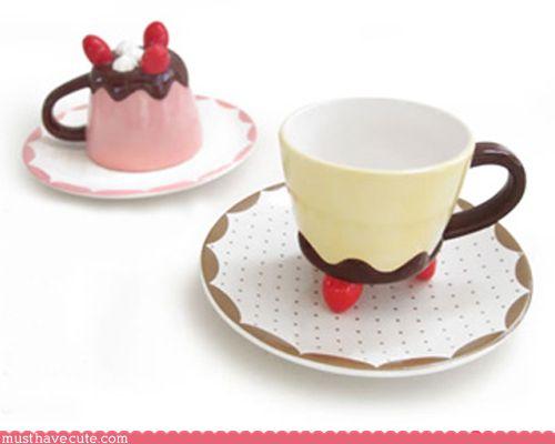Pudding Tea Cups