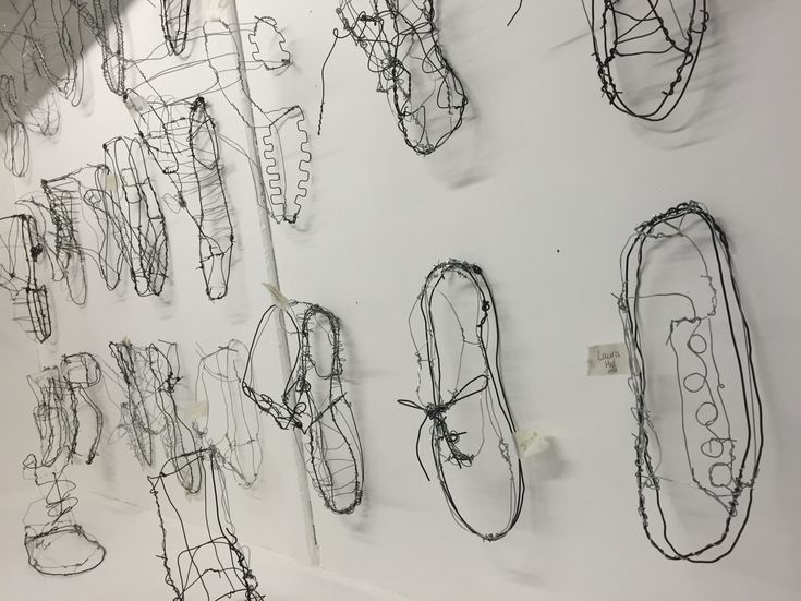 Wire shoes - art foundation
