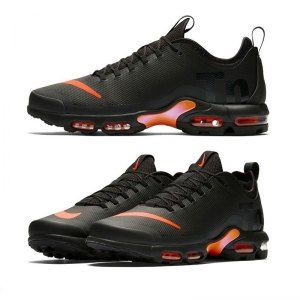 wholesale dealer d9fac 0d537 Mens Nike Air Max Mercurial TN Vapor Black Orange Trainers