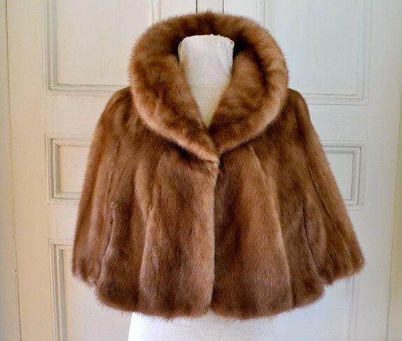 Vintage Mink Fur Cape