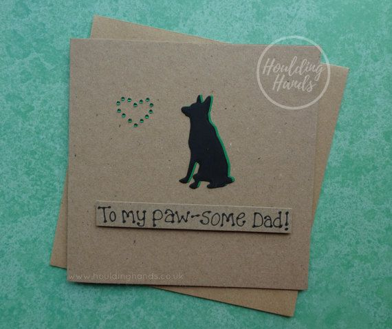Father's Day card Alsatian card for Dad German Shepherd