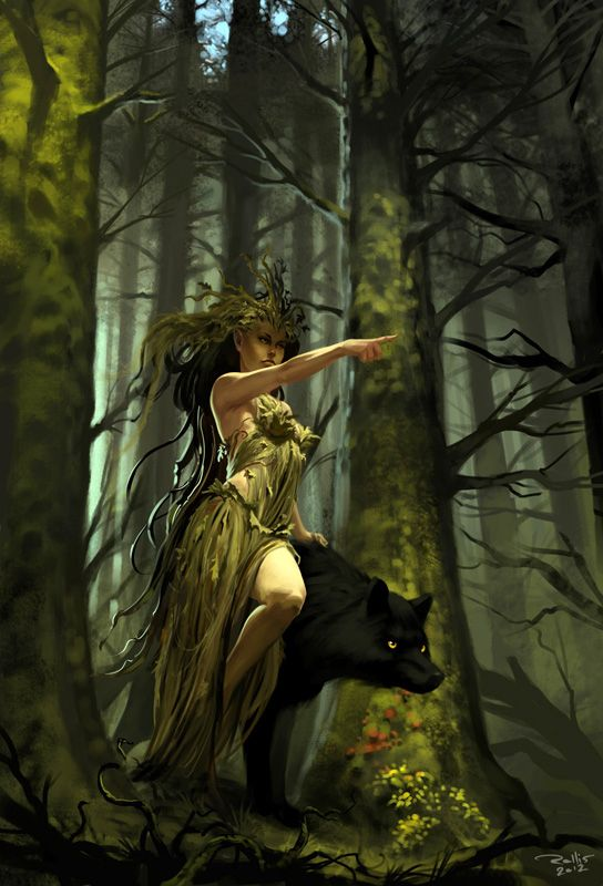 Dryad revised by ~ChrisRa on deviantART... This is similar to what my dream looked like last night... creepy