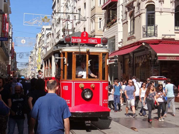 The historical tram of Istanbul