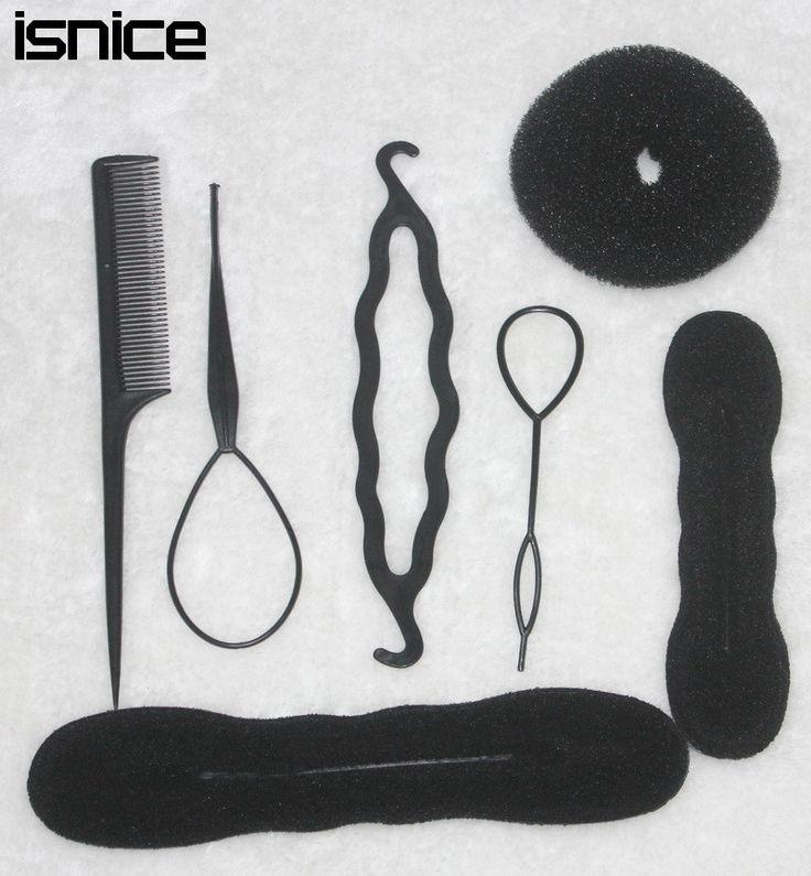 TS hot sale Women's Magic Foam Sponge Hairdisk Hair Device Donut Quick Messy Bun Updo Headwear Normal and Ribbon type