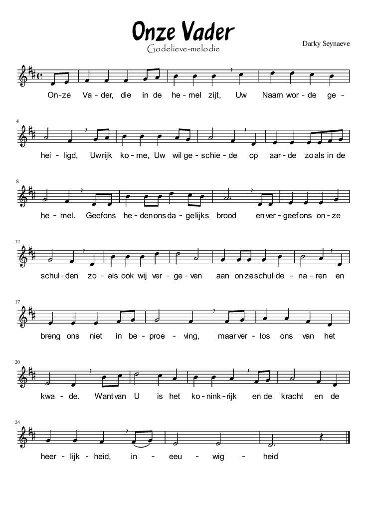 een andere melodie voor het Onzevader...