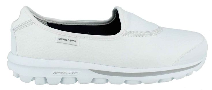 sketchers go walk in White =) These shoes are very comfortable and come in a variety of colors.