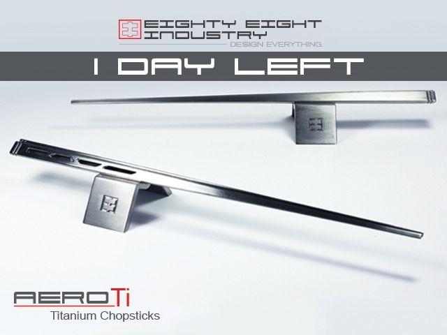 Aerodynamic Inspired Titanium Chopsticks by Eighty Eight Industry — Kickstarter