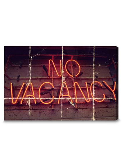 Cool old No Vacancy sign - Fine Art Canvas