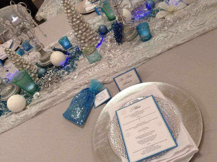 Frozen - winter wedding design palette - bridal show - wedding expo - waterloo, Ontario - snowflakes - favours - guest favors - silver - blue - turquoise - wedding decorations - wedding decor - ontario wedding planner - stationary - design - icicles - bling - wedding decorator - canada