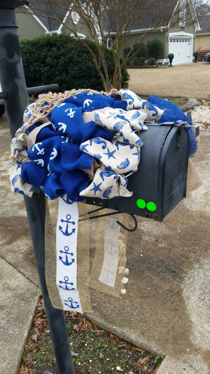 Summer Mailbox Decor / Mother's Day Gift / Beach Theme Mailbox Topper / Mailbox Cover / Nautical Mailbox Cover / Sea Shells / #blingmybox