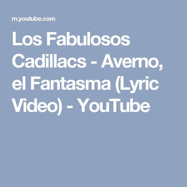 Los Fabulosos Cadillacs - Averno, el Fantasma (Lyric Video) - YouTube