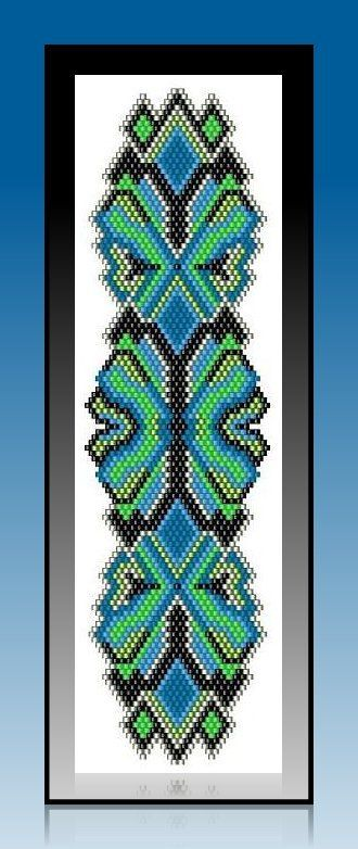 BPBR008 Capri Lace Brick Stitch Bracelet Pattern door TrinityDJ