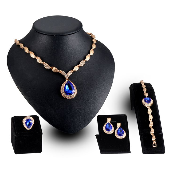 LZESHINE Exaggerated Jewelry Sets African Earing Fashion Jewelry Dubai wedding Bridal Women Crystal Perhiasan Gold Necklace Set