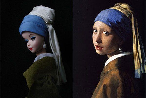 Aaahhh this is so cool! Barbie as fine art.Johannes Vermeer, Work Of Art, Pearl Earrings, Barbie Art, Famous Artists, Famous Work, Pearls Earrings, Barbie Dolls, Jocelyn Grivaud