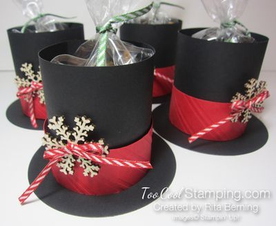 Frosty The Snowman's Hat Treat Holder + tutorial
