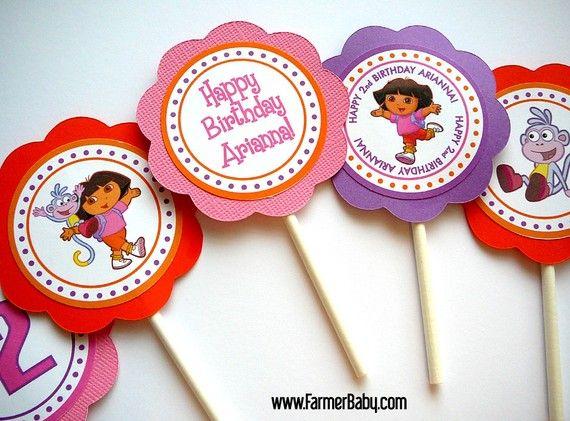 Dora Cupcake Toppers