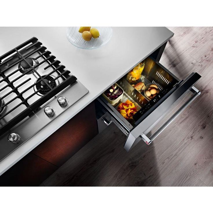 KitchenAid Double Drawer 4.7 Cu. Ft. Bottom Freezer Refrigerator In Panel  Ready, Counter. Small Kitchen ...