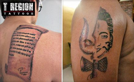 Pay Rs. 599 for 8 Sq Inch Permanent Tattoo worth Rs. 5200 at Tattoo Region. It's time to get a new design!