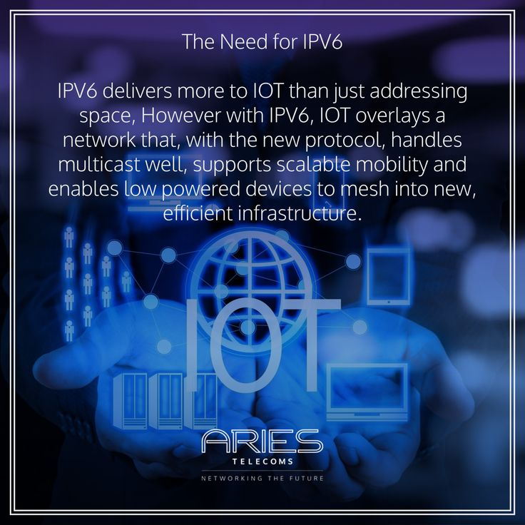 The length of an IPV6 address is 128 bits, compared with 32 bits in IPV4, empowering the latest form of technological configurations for your business. Know more about Aries Telecoms and their services here: http://www.ariestelecoms.com.my