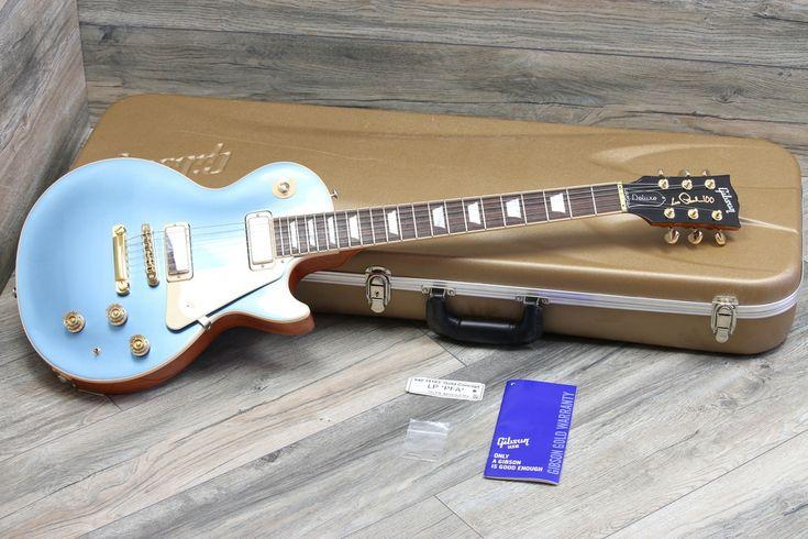 2015 Gibson Les Paul Deluxe Limited Edition 100 Pelham Blue Metallic + OHSC
