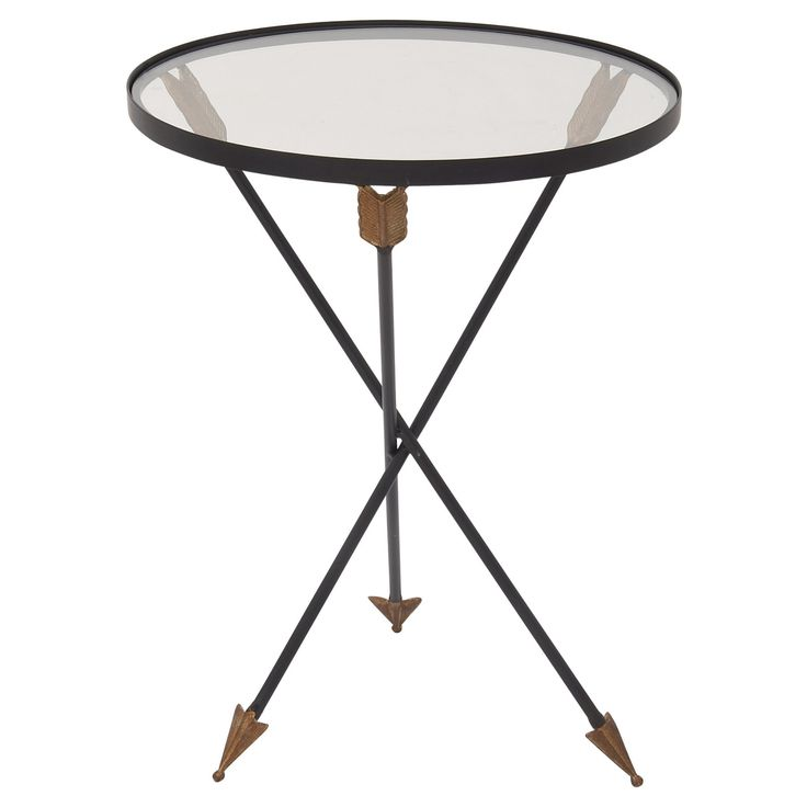 DecMode Round Arrow Accent Table - 91932