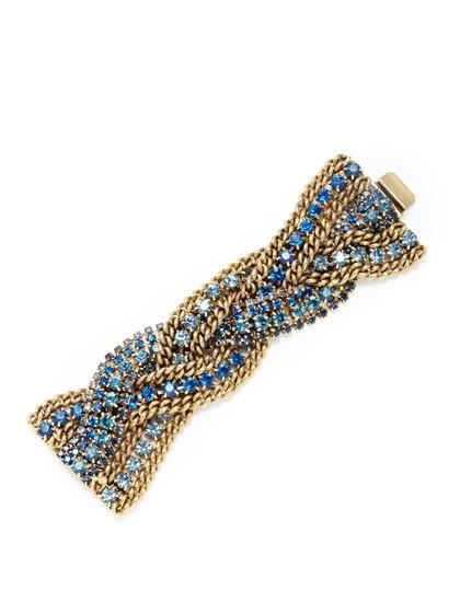 Elizabeth Cole  Braided Crystal Bracelet: Crystals Bracelets, Cole Bracelets, Elizabeth Cole, Braids Crystals, Holidays Bracelets, Bracelets 198, Styles Jewelry, Jewelry Boxes, Cole Braids