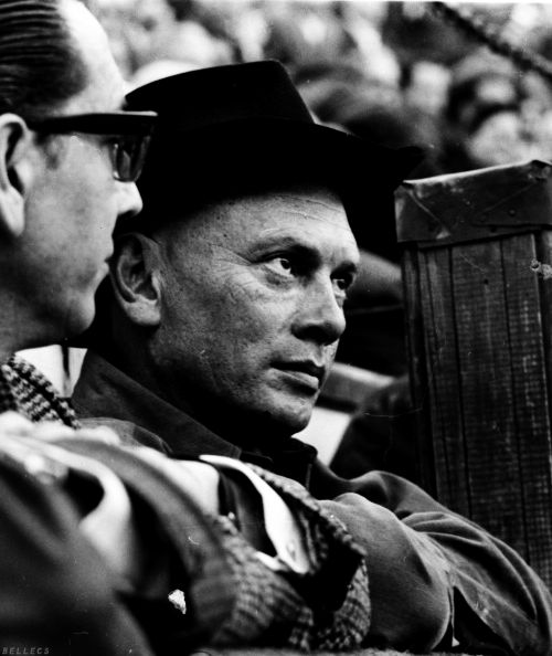 """Yul Brynner, 1966. When he found out that he would die from lung cancer he did a Public Service Commercial. Looking into the camera he said """"What ever you do don't smoke."""""""