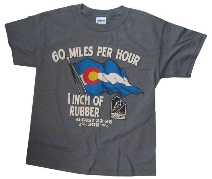 USA Pro Cycling Challenge Colorado 2011 T-shirt Youth L New #Gildan