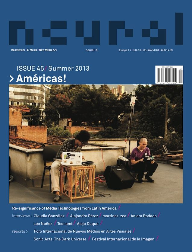 "New Neural issue (#45 ""Américas!"") is available.  http://neural.it/2013/09/new-neural-issue-45-americas/ Subscribe now and get your copy! http://neural.it/subscribe"