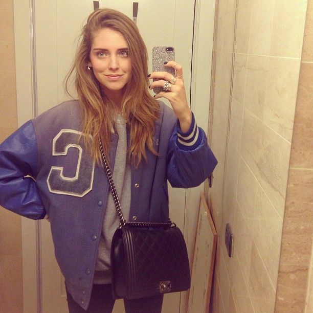 Chiara Ferragni with the Silver Crystal Fabric iPhone Cover.  Photo Courtesy of Chiara Ferragni.