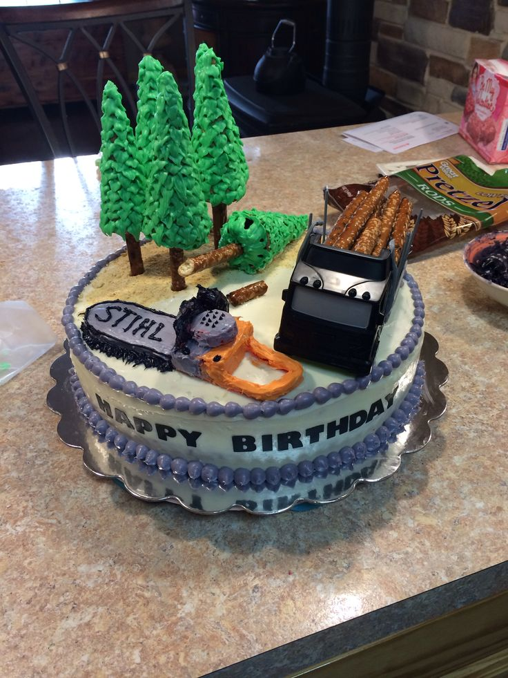 Logger theme cake | Cakes/desserts in 2019 | Truck ...