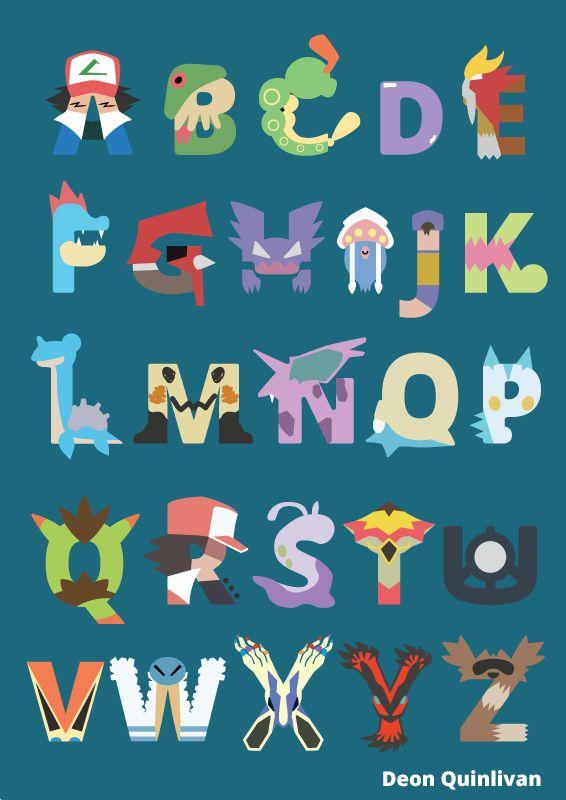 """deonquinlivan: """" Pokemon Alphabet Something Something last upload was exactly one year ago, Pokemon alphabet. ________________________________________________ Twitter: https://twitter.com/Deon_Quinlivan DeviantArt:..."""