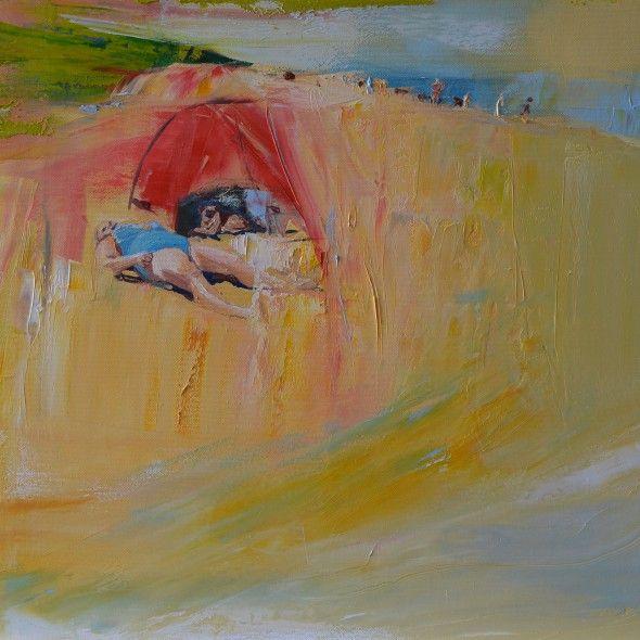 A beach – entry for the dogs sector  Joanna Burda,Oil on canvas