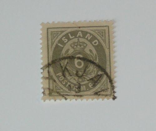 Stamp Pickers Iceland Island 1876 Classic 6o Scott #10 VFU $40+