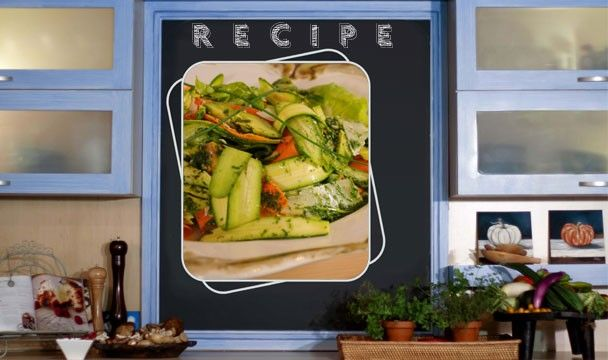 Season 1, Episode 1 - Ribboned Salad with Herb Dressing.     Recipe available for download from http://www.sharonglass.co.za/uploads/menus/01-2012415224243.pdf    #cooking #recipes #food #herbs #salad #meals #weekdaymeals #SharonGlass #FoodinaFlash #TheHomeChannel #DSTV