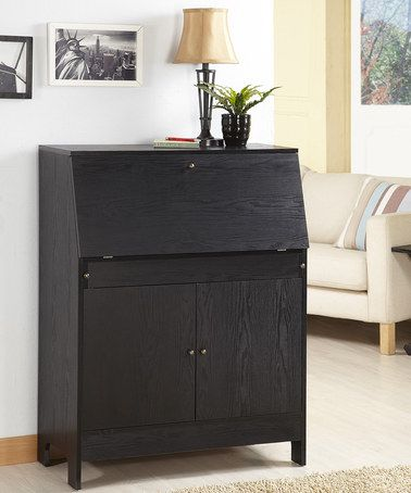 take a look at this black secretary writing desk by furniture of america on zulily
