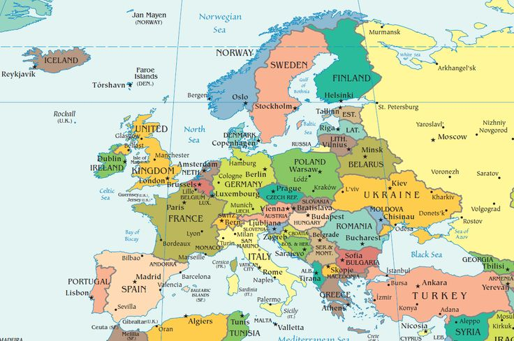 map of europe and capitals
