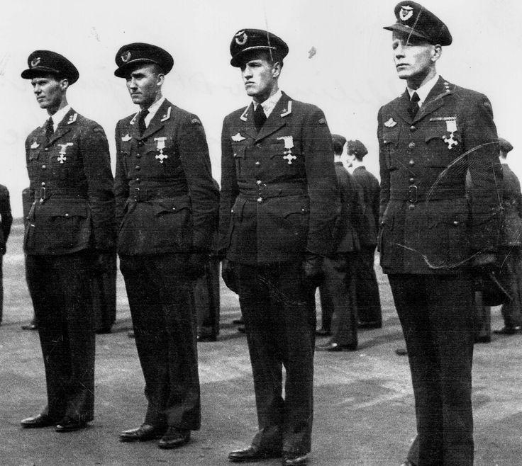 Kaj Birksted, Arne Austeen, Werner Christie, Nils Jørstad, mars 1944
