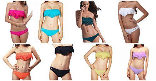 Seawhisper-Bikini Costumi 2 pezzi Costume da bagno imbottito a fascia bikini con frange mare push-up Multicolore Taglia S M L, Donna Miglior prodotto Abbigliamento sportivo. Benvenuto nel nostro negozio dedicato sportivo e fitness prodotto.