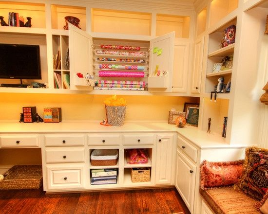 Angel Craft Room Design Ideas | Craft Rooms Design, Pictures, Remodel, Decor  And. Traditional Home OfficesTraditional ...