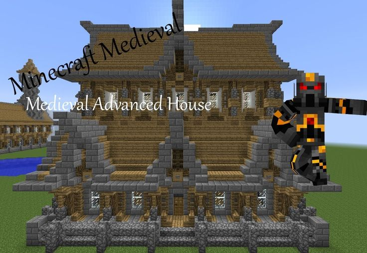 Minecraft Medieval Advanced House Tutorial Part 1 Of 3