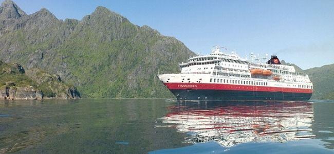 Beautiful shot of MS Finnmarken