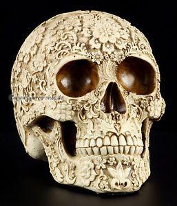Totenkopf Flower Skull Deko Figur Fantasy Gothic Schädel  Totenschädel | eBay skulls