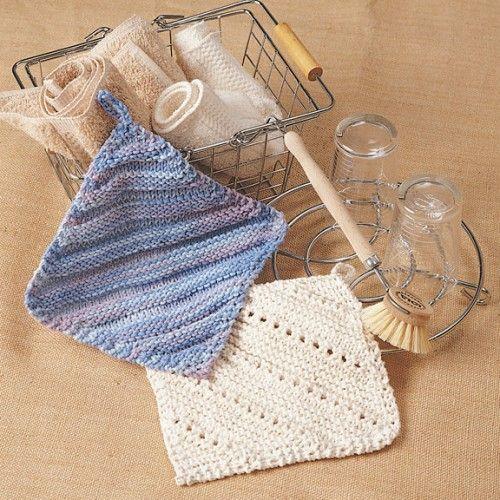 Free Eyelet Dishcloth & Ridge Dishcloth Knit Pattern