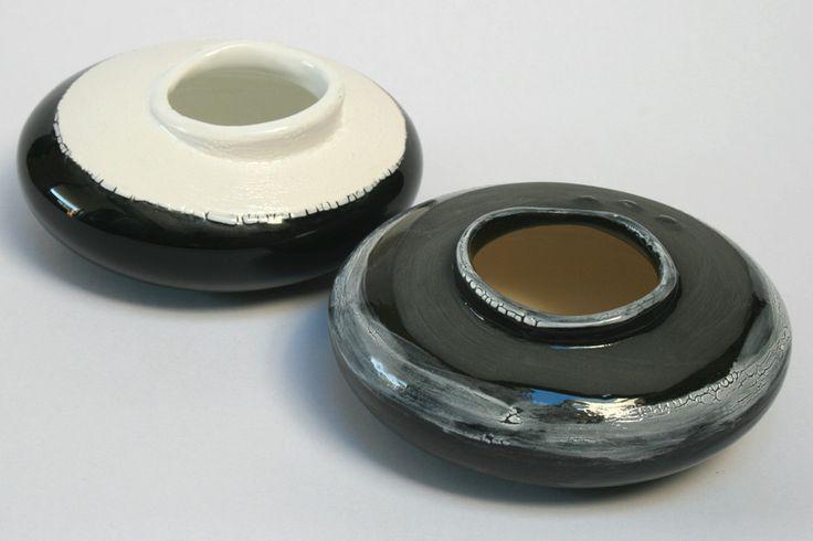 Vase Round Flat Pebble